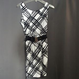 HeartSoul Black and white dress with belt size S